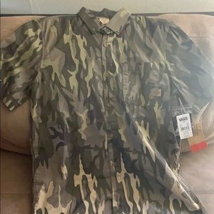 Vans camouflage button up shirt BRAND NEW